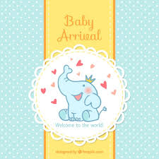 baby card baby arrival card vector free