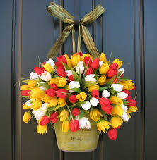 French Decorations For Home by Spring Tulips Farmhouse Tulips Front Door Decor Country