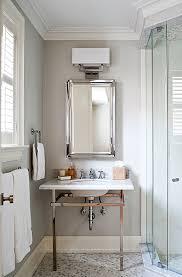 Bathroom Mirror Chrome Polished Chrome Washstand Transitional Bathroom