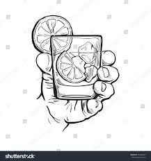vodka soda hand holding glass gin vodka soda stock vector 547089925