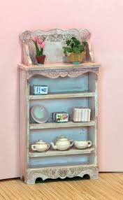 Blue Shabby Chic Kitchen by Kitchen Scale Designs Smaller Scale Dollhouse Miniatures