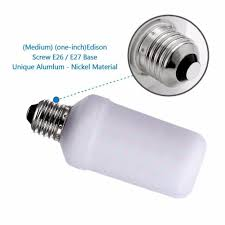 48 inch led light bulb zorio fire effect led light bulb vaelio