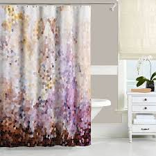Green And Brown Shower Curtains Abstract Shower Curtain Interior Design