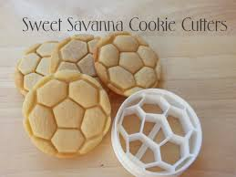 soccer ball cookie cutter with emboss detail