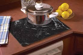 Countertop Cutting Board Amazon Com Counterart Black Marble Design Glass Cutting Board 15