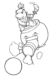 bowser jr coloring pages print throughout eson me