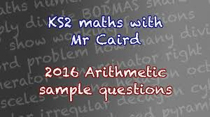 sats writing papers ks2 2016 maths sat sample arithmetic questions youtube
