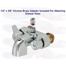 Clawfoot Tub Faucet With Diverter Chrome Clawfoot Tub Add A Shower Bathcock Diverter Faucet With