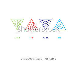 nature elements earth air water air stock vector 735316861