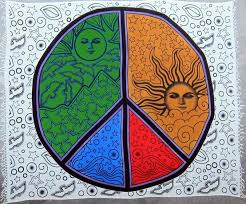 handmade 100 heavy cotton celestial mandala sun moon peace