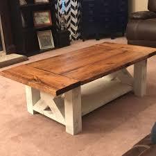 Coffee Tables Plans Diy Chunky Farmhouse Coffee Table Diy Woodworking Plans