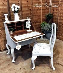 bureau writing desk shabby chic writing desk painted bureau shabby chic small