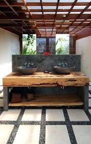stone basin bathroomteak slab bathroom vanity made to order stone