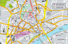 Printable Map Of Las Vegas Strip by Map Of Newcastle Upon Tyne Uk Free Printable Maps