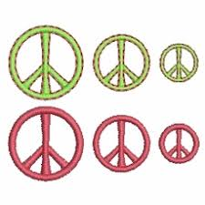 peace sign machine embroidery designs