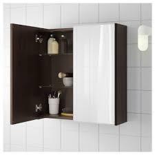 Black Mirror Bathroom Cabinet Lillången Mirror Cabinet With 2 Doors Black Brown 60x21x64 Cm Ikea