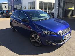 infinity car blue used 2017 peugeot 308 blue hdi ss gt line 5dr for sale in ryde