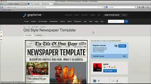 newspaper template for adobe indesign cs6 youtube
