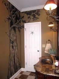 cypress tree mural bathroom painting drawing on walls unusual