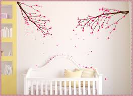 beautiful cherry blossom wall decal home decorations ideas image easy cherry blossom wall decal