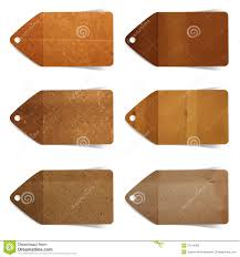 Stick Paper Tag Paper Craft Stick On White Background Royalty Free Stock