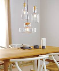 Beacon Lighting Pendant Lights 1 Light Pendant With 170mm Flat Beaker Shaped Glass Shade