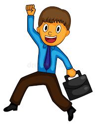 clipart uomo uomo d affari felice clip illustrazione di vettore