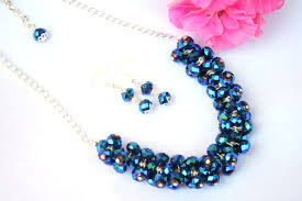blue crystal necklace images Chunky blue crystal necklace diyas jewel box jpg