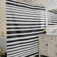 Black And White Vertical Striped Shower Curtain Compare Prices On Shower Curtain Stripe Online Shopping Buy Low