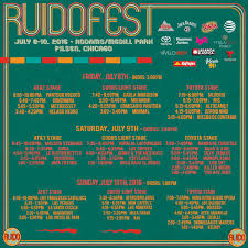 Riot Fest Chicago Map by Ruido Fest Promises To Satiate Hungry Latin Alternative Festival