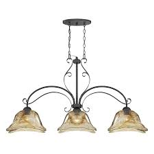 kitchen island light fixtures millennium lighting chatsworth 45 5 in w 3 light burnished gold