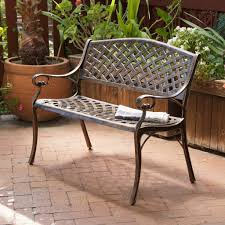Antique Rod Iron Patio Furniture by Lawn Garden Fascinating Cozumel Copper Cast Aluminum Bench Rust