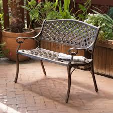 lawn garden cool innova deer 4 ft park bench cast iron frame with