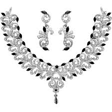 diamond jewelry necklace images Diamond traditional brdial necklace sets jewellery designs gif