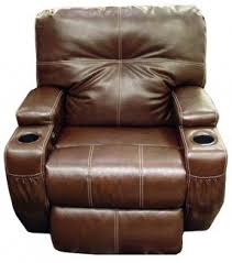 Brown Recliner Chair Leather Recliners With Cup Holders Foter