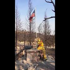 American Flag Watches Watch Firefighters Raise American Flag Found Miraculously