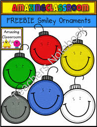 freebie smiley ornaments from amazingclassroom on teachersnotebook