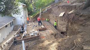 excavation and grading for retaining wall time lapse youtube