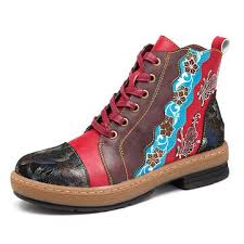 womens flat leather boots canada newchic s shoes clearance newchic