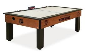 hockey time air hockey table the pittsburgh penguins air hockey table bar billiards party