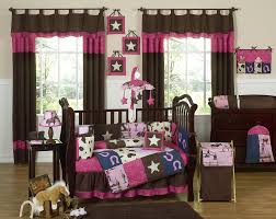 pink bown cowgirl baby bedding 9pc western nursery crib set