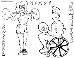 dumbbell coloring pages coloring pages to download and print