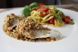 Trout Amandine Trout With Lemon Basil Herb Crust My Delicious Blog