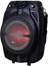 bluetooth party speakers with lights qfx pbx 710700btl portable bluetooth party speaker electronicmixly