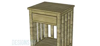 build a rustic end table u2013 designs by studio c