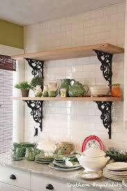 Kitchen Open Shelving Ideas Best 25 Shelves In Kitchen Ideas On Pinterest Open Shelving