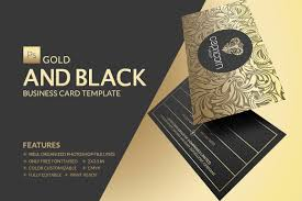 gold and black business card business card templates creative