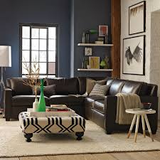 Black And White Chair And Ottoman Design Ideas Dark Walls Ottoman Side Table Sectional Love It Abode