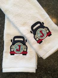 hand towel set bath embroidered towel gift for her wedding