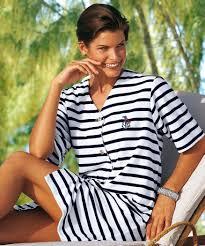 robe de chambre eponge femme marinière en éponge manches courtes blanc femme damart